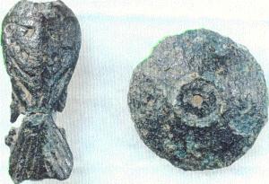 fuglespenne og skålspenne samme grava Brunlanes, merovinger